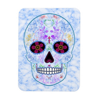 Day of the Dead Sugar Skull - Baby Blue Flexible Magnets