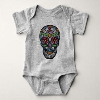 Day of The Dead Sugar Skull Baby Bodysuit
