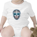 Day Of The Dead Sugar Skull Baby Bodysuits