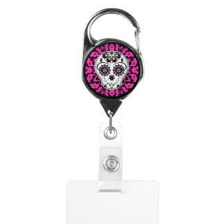 Day of the dead | sugar skull badge holder