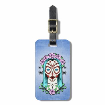 Halloween Themed Day Of The Dead Sugar Skull Bag Tag