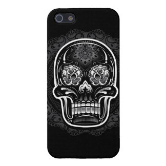 Day of the Dead Sugar Skull Black and White Cover For iPhone SE/5/5s