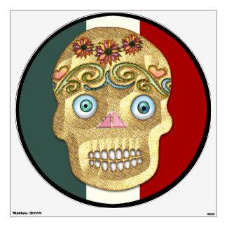 Day of the Dead Sugar Skull (Blonde Presswood) Wall Sticker