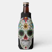 Day of the Dead Sugar Skull Bottle Cooler