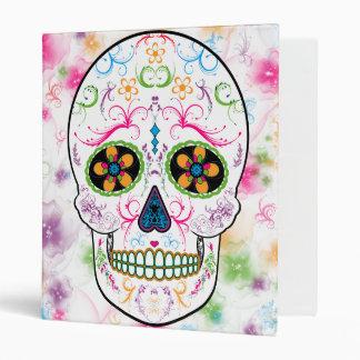 Day of the Dead Sugar Skull - Bright Multi Color Binder