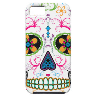 Day of the Dead Sugar Skull - Bright Multi Color iPhone 5 Cases