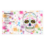 Day of the Dead Sugar Skull - Bright Multi Color Double-Sided Standard Business Cards (Pack Of 100)