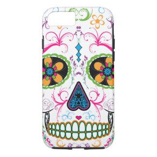 Day of the Dead Sugar Skull - Bright Multi Color iPhone 8/7 Case
