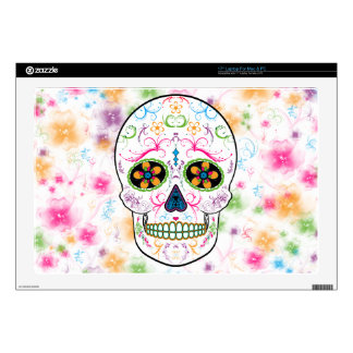Day of the Dead Sugar Skull - Bright Multi Color Laptop Decals