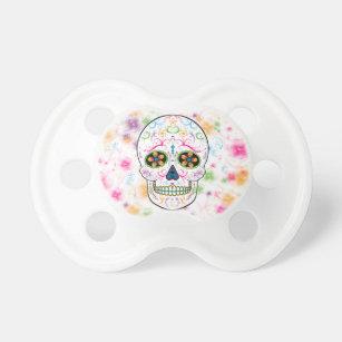 Day of the Dead Sugar Skull - Bright Multi Color Pacifier