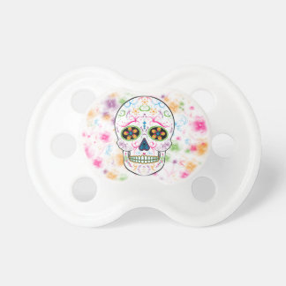Day of the Dead Sugar Skull - Bright Multi Color BooginHead Pacifier