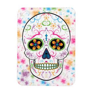 Day of the Dead Sugar Skull - Bright Multi Color Magnets
