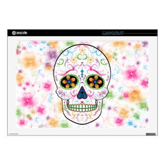"Day of the Dead Sugar Skull - Bright Multi Color Skin For 17"" Laptop"
