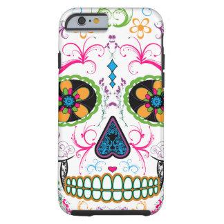 Day of the Dead Sugar Skull - Bright Multi Color Tough iPhone 6 Case