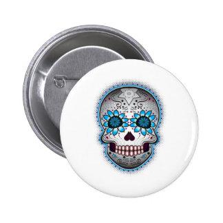 Day Of The Dead Sugar Skull Button