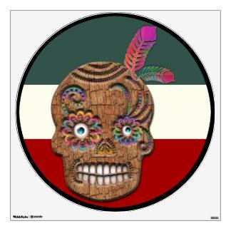 Day of the Dead Sugar Skull (Cedar Shake) Wall Sticker