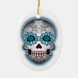 Day Of The Dead Sugar Skull Christmas Ornament