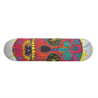 Day of The Dead Sugar Skull Comic Tattoo Design Skateboard