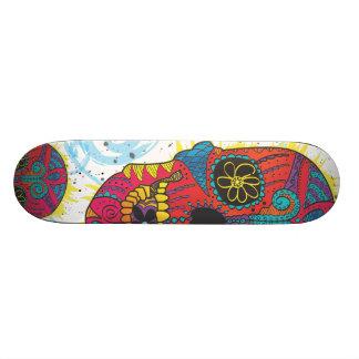 Day of The Dead Sugar Skull Comic Tattoo Design Skateboard Deck