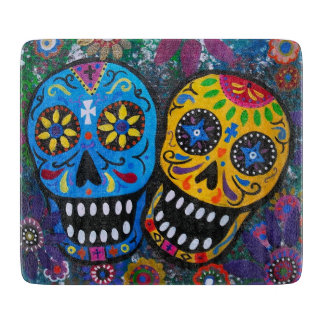 Day of The DEad Sugar Skull Cutting Board
