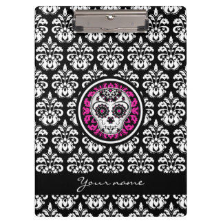 Day of the Dead | Sugar skull damask Clipboard