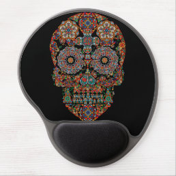 Day of the Dead Sugar Skull Gel Mouse Pad