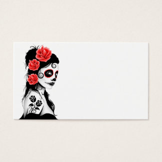 Day of the Dead Sugar Skull Girl Business Card