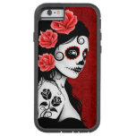 Day of the Dead Sugar Skull Girl – Deep Red Tough Xtreme iPhone 6 Case