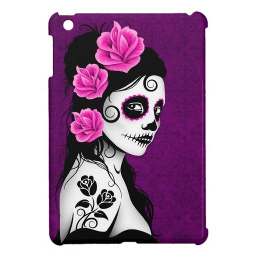Day of the Dead Sugar Skull Girl - purple iPad Mini Case