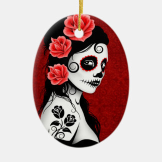Sugar Skull Ornaments & Keepsake Ornaments | Zazzle