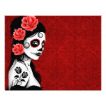 Day of the Dead Sugar Skull Girl - red Invitations