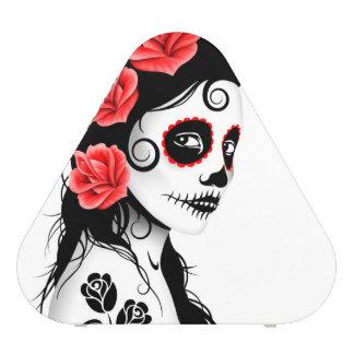 Day of the Dead Sugar Skull Girl – White Bluetooth Speaker
