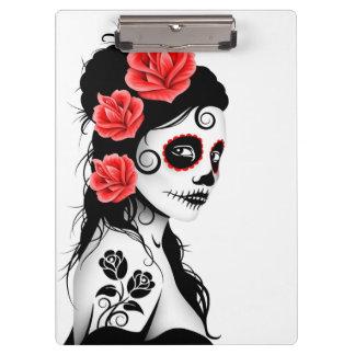 Day of the Dead Sugar Skull Girl - White Clipboard