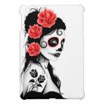 Day of the Dead Sugar Skull Girl - white iPad Mini Cases