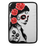Day of the Dead Sugar Skull Girl - white Sleeve For MacBook Air