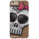 Day of the Dead Sugar Skull Girly Hot Pink Glitter Barely There iPhone 6 Plus Case