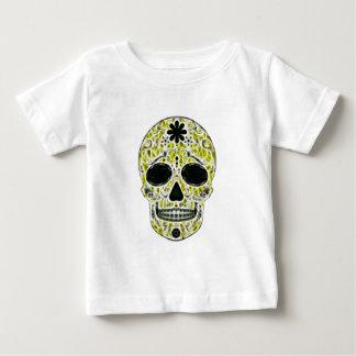 Day of the Dead Sugar Skull - Gold, Black & Green Baby T-Shirt