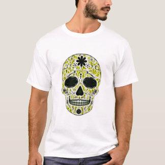 Day of the Dead Sugar Skull - Gold, Black & Green T-Shirt