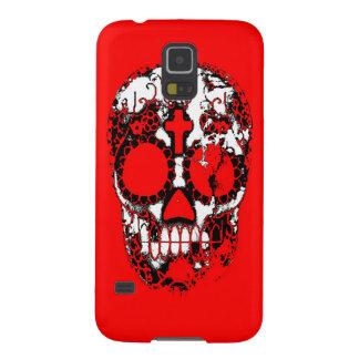 Day of the Dead Sugar Skull Grunge Design Galaxy S5 Case
