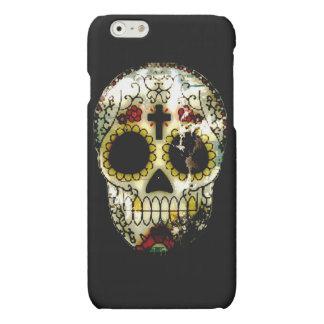 Day of the Dead Sugar Skull Grunge Design Matte iPhone 6 Case