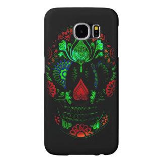 Day of the Dead Sugar Skull Grunge Design Samsung Galaxy S6 Case