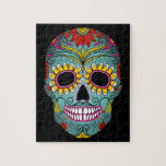"""Day of the Dead Sugar Skull Jigsaw Puzzle<br><div class=""""desc"""">This is a gorgeous Day of the Dead sugar skull that would make a great gift for any occasion.</div>"""