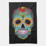 Day of the Dead Sugar Skull Kitchen Towels