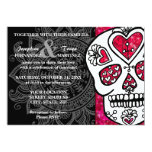 Day of the Dead Sugar Skull LGBT Wedding Glitter Card