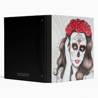 Day of the Dead Sugar Skull - lowbrow art Binder