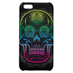 Day of the Dead Sugar Skull Neon Case For iPhone 5C