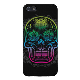 Day of the Dead Sugar Skull Neon Cover For iPhone SE/5/5s