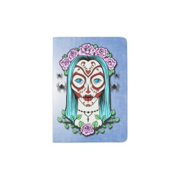 Day Of The Dead Sugar Skull Passport Holder