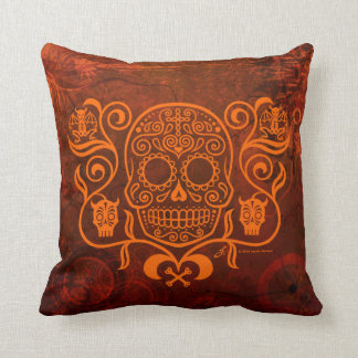 Day of the Dead Sugar Skull Pillows