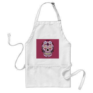 Day of the Dead Sugar Skull Pink Adult Apron